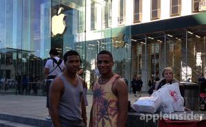 Fila frente a la Apple Store