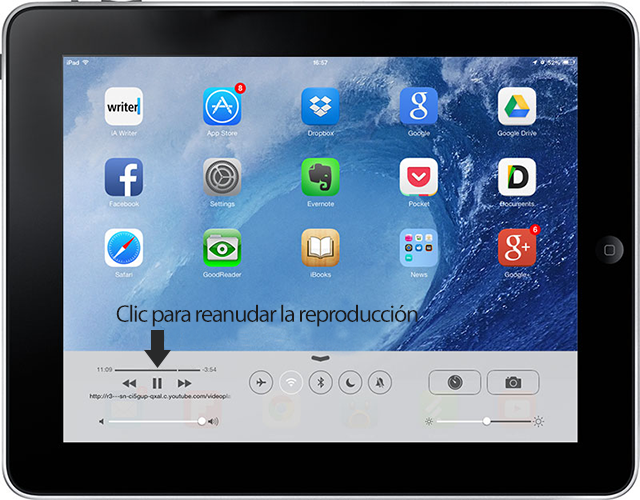 YouTube en segundo plan iOS 7