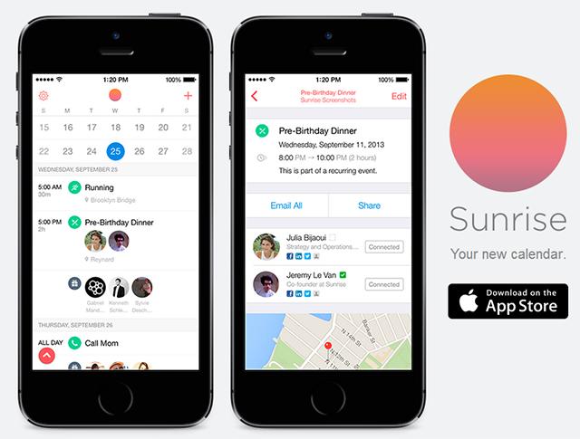 Sunrise para iOS