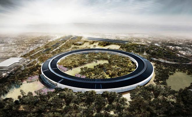 Apple Campus 2 vista aérea