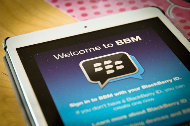 BBM en el iPad