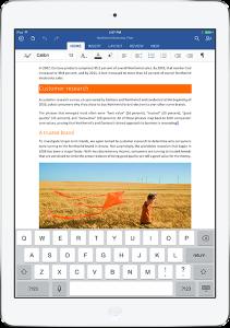 Word en el iPad