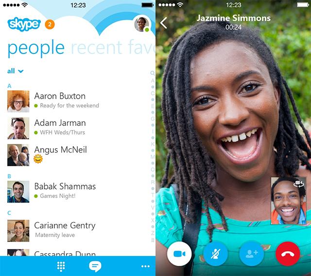 Skype 5.0 en el iPhone