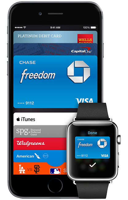 iPhone 6 y Apple Watch con Apple Pay
