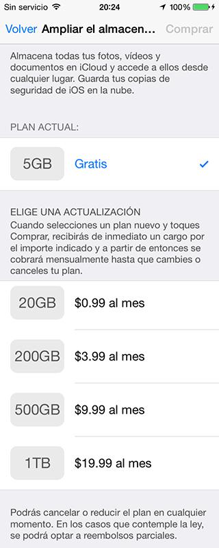precios iCloud