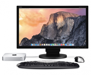 Mac Mini con mouse y teclado genericos