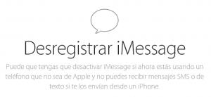iMessage Deregister