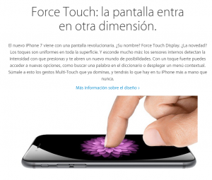 iPhone 7 con Force Touch