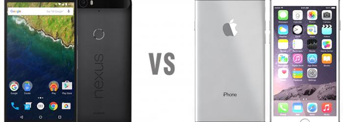 Comparativa: Nexus 6P  vs iPhone 6S Plus