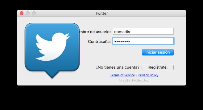 Twitter para Mac