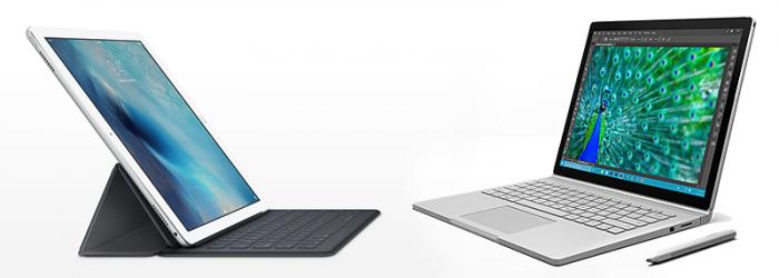 Comparativa: iPad Pro vs. Surface Book