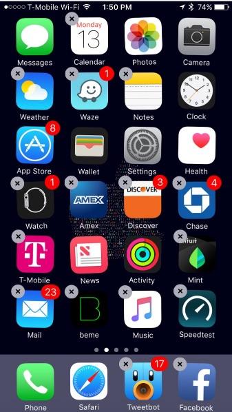 eliminando apps