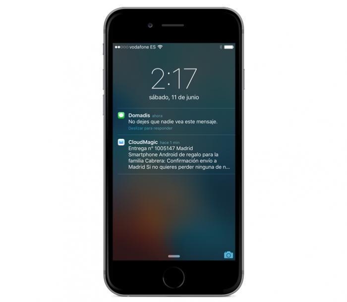 Notificaciones en Lock Screen