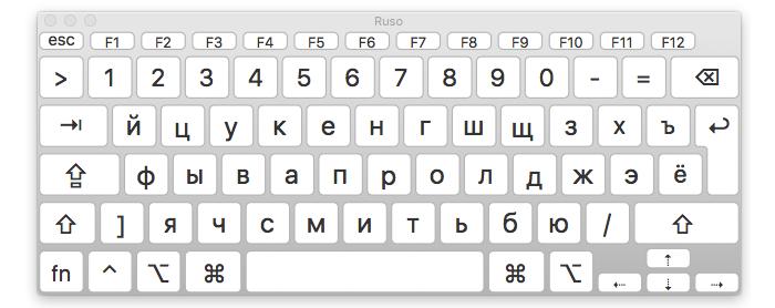 teclado ruso mac