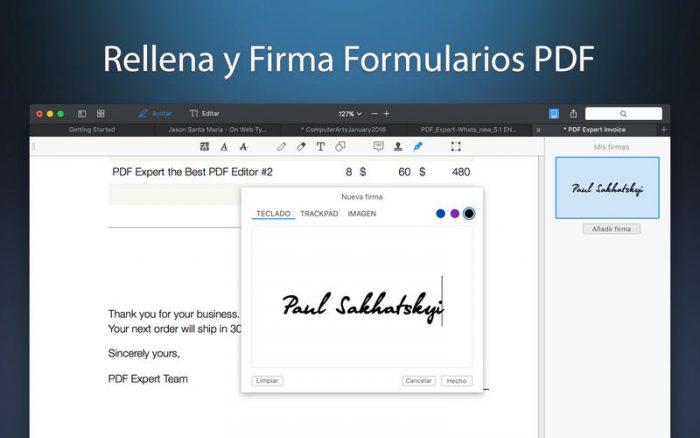 PDF Expert Firmas