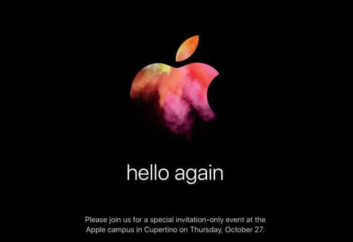 Evento Apple 27 Octubre