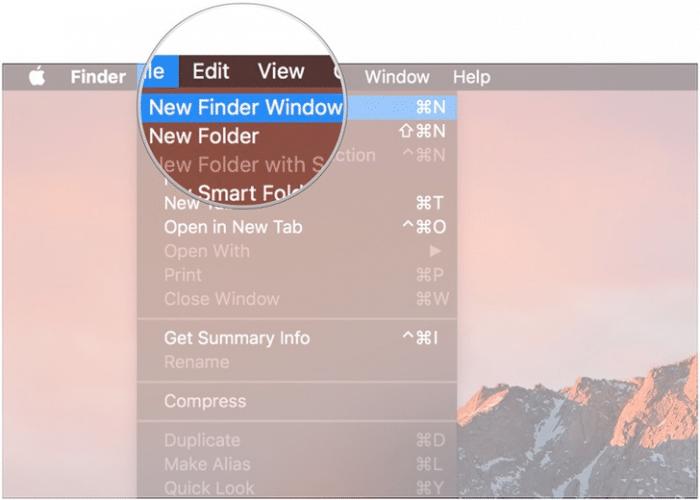 New Finder Window