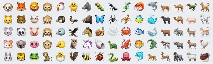 nuevos emojis animales