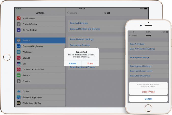 Limpiar dispositivo iOS