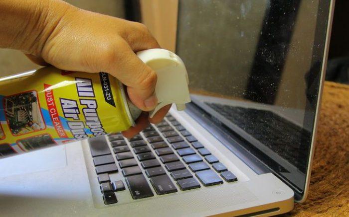 limpiar macbook teclado