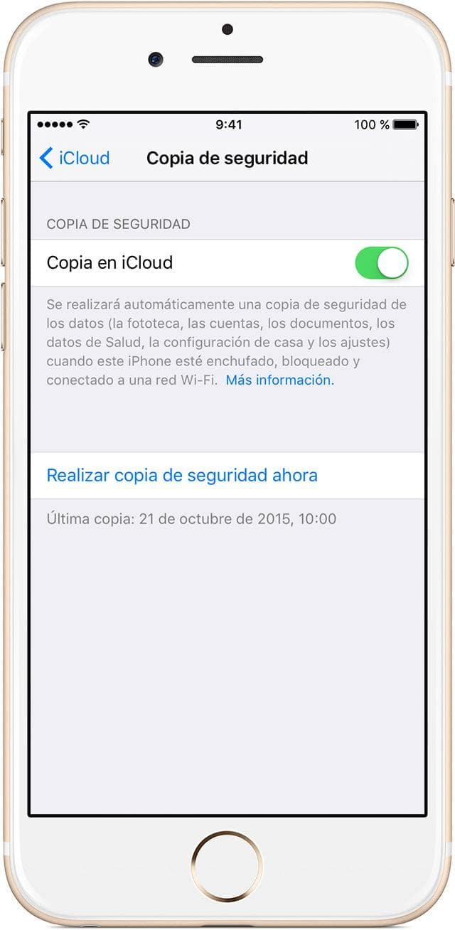 copias seguridad iphone