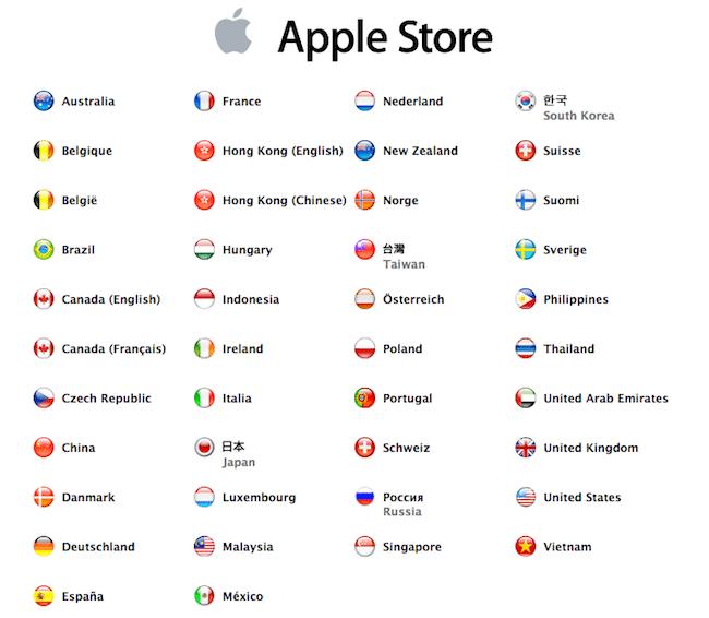 App Store Países