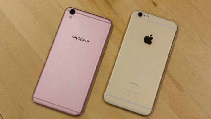 Oppo R9 vs iPhone 7