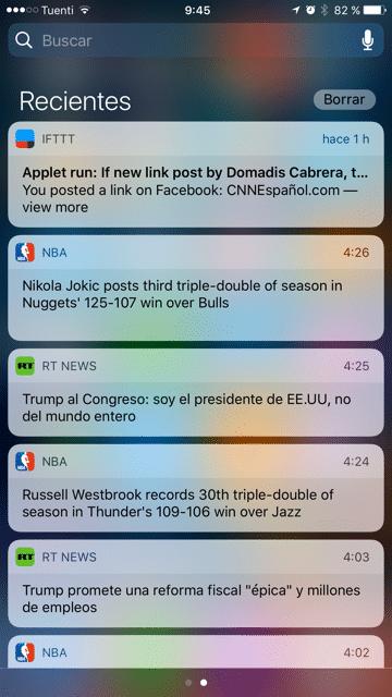 borrar notificacion