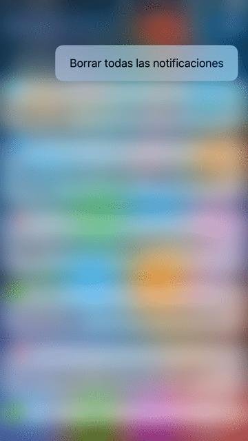 3D Touch borrar todas las notificaciones