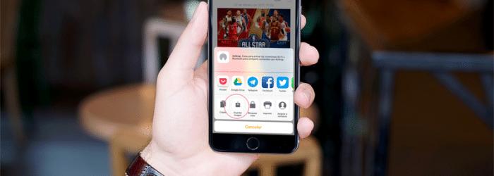 Cómo salvar las fotos de Instagram en el iPhone. Sin jailbreak.
