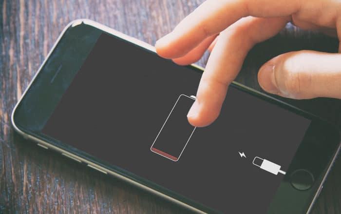 iPhone sin batería