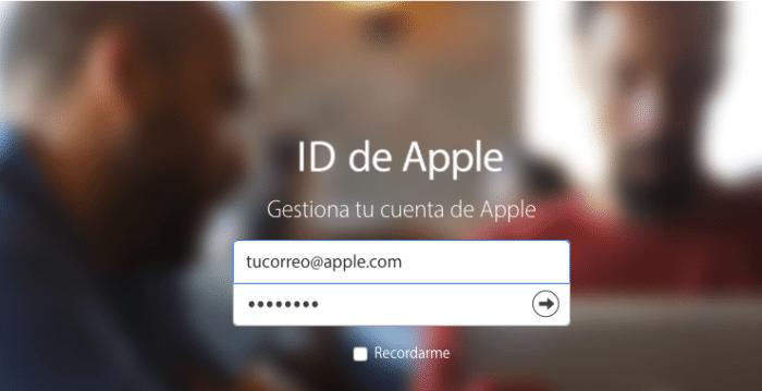gestionar cuenta apple