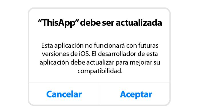 aplicaciones obsoletas