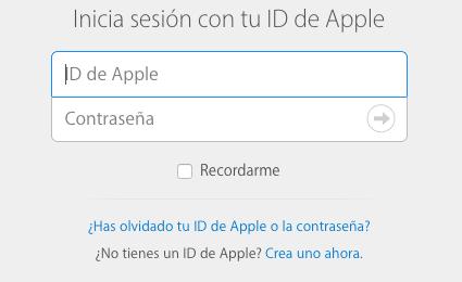 Iniciar sesión iCloud
