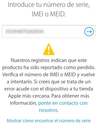iPhone perdido