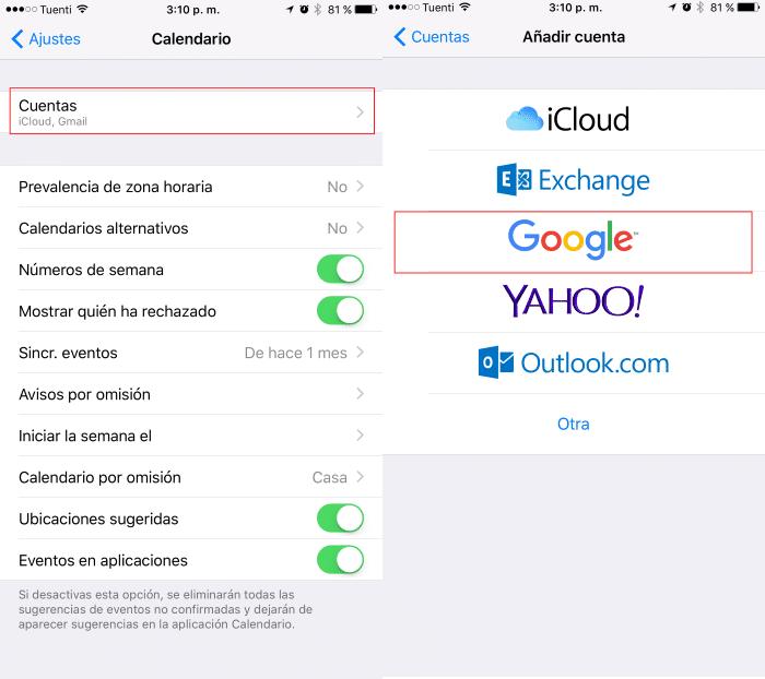 Anadir Calendario Iphone.Como Sincronizar Google Calendar Con La Aplicacion De