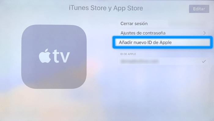 Añadir nuevo ID de Apple