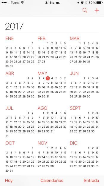 iPhone Calendario