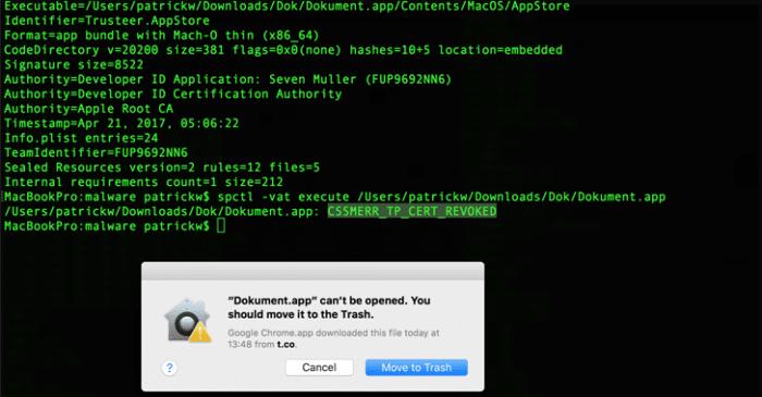 certificado mac Apple
