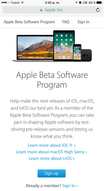 programa beta de apple
