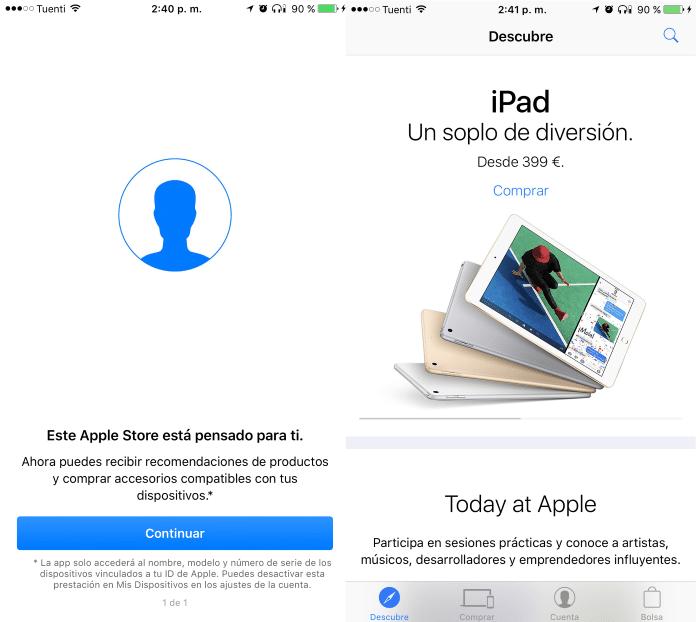Aplicación Apple Store