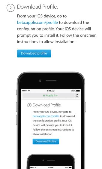 descargar perfil apple