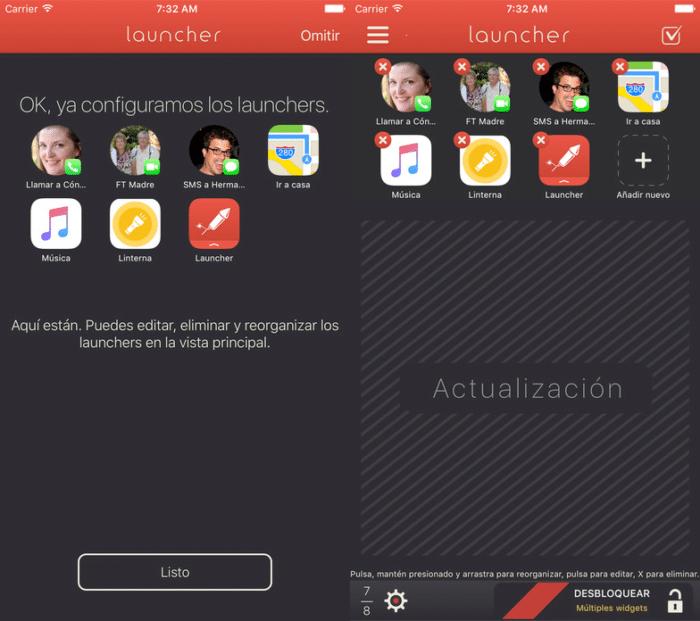 Editar widgets Launcher