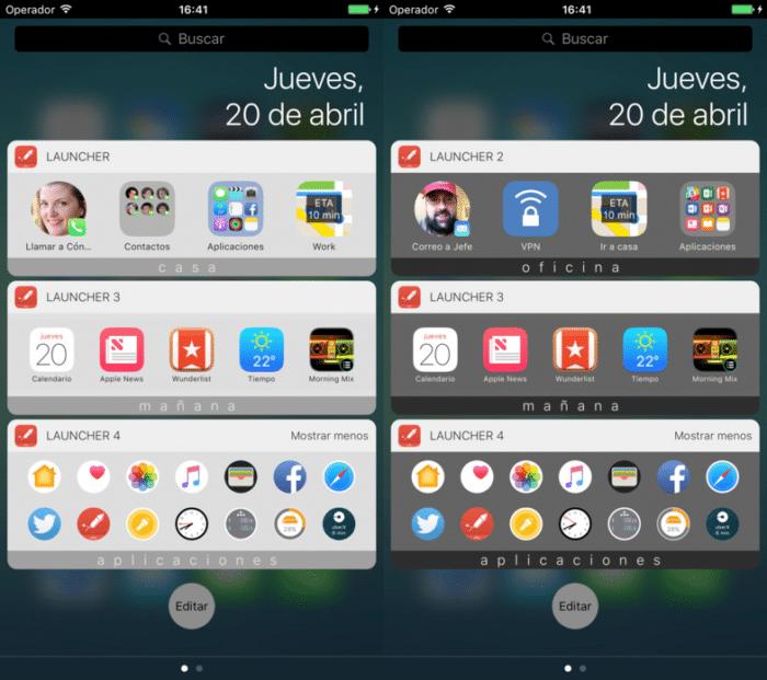 Launcher widgets