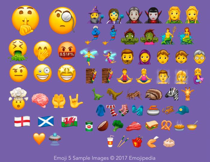 nuevos emojis unicode 10.0