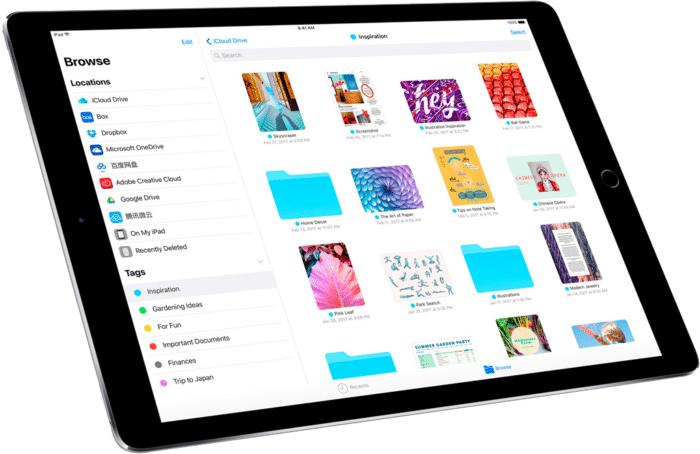Archivos en el iPad
