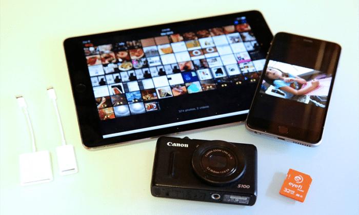 Gestionar fotos iPad