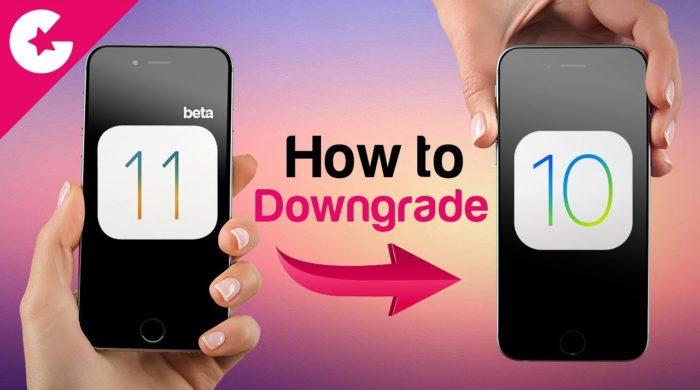 Bajar de iOS 11 beta a iOS 10