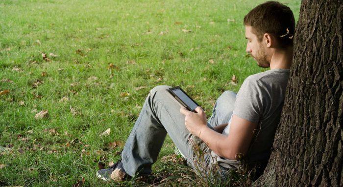 Leyendo en el Kindle