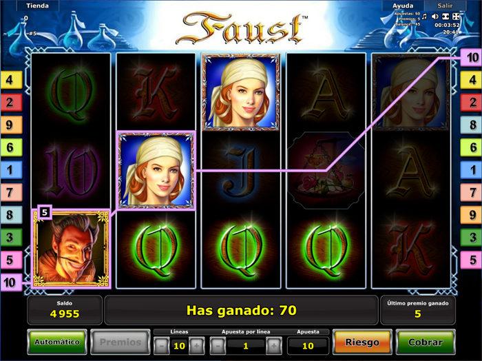 lineas ganadoras Faust